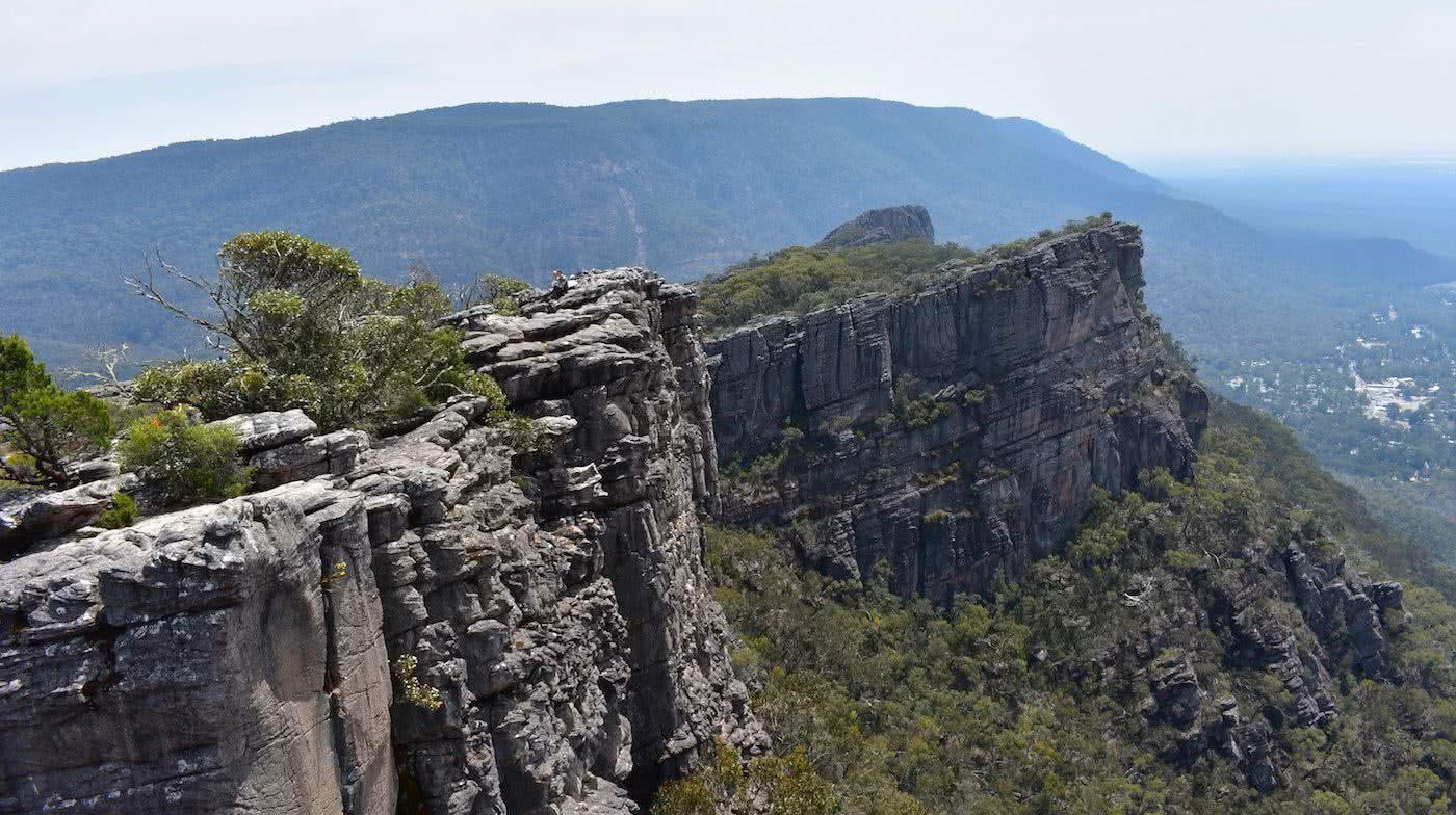 Hiking Ancient Gariwerd – Stage One of the Grampians Peaks Trail, Emily Barlow, view from The Pinnacle, rocks, landscape