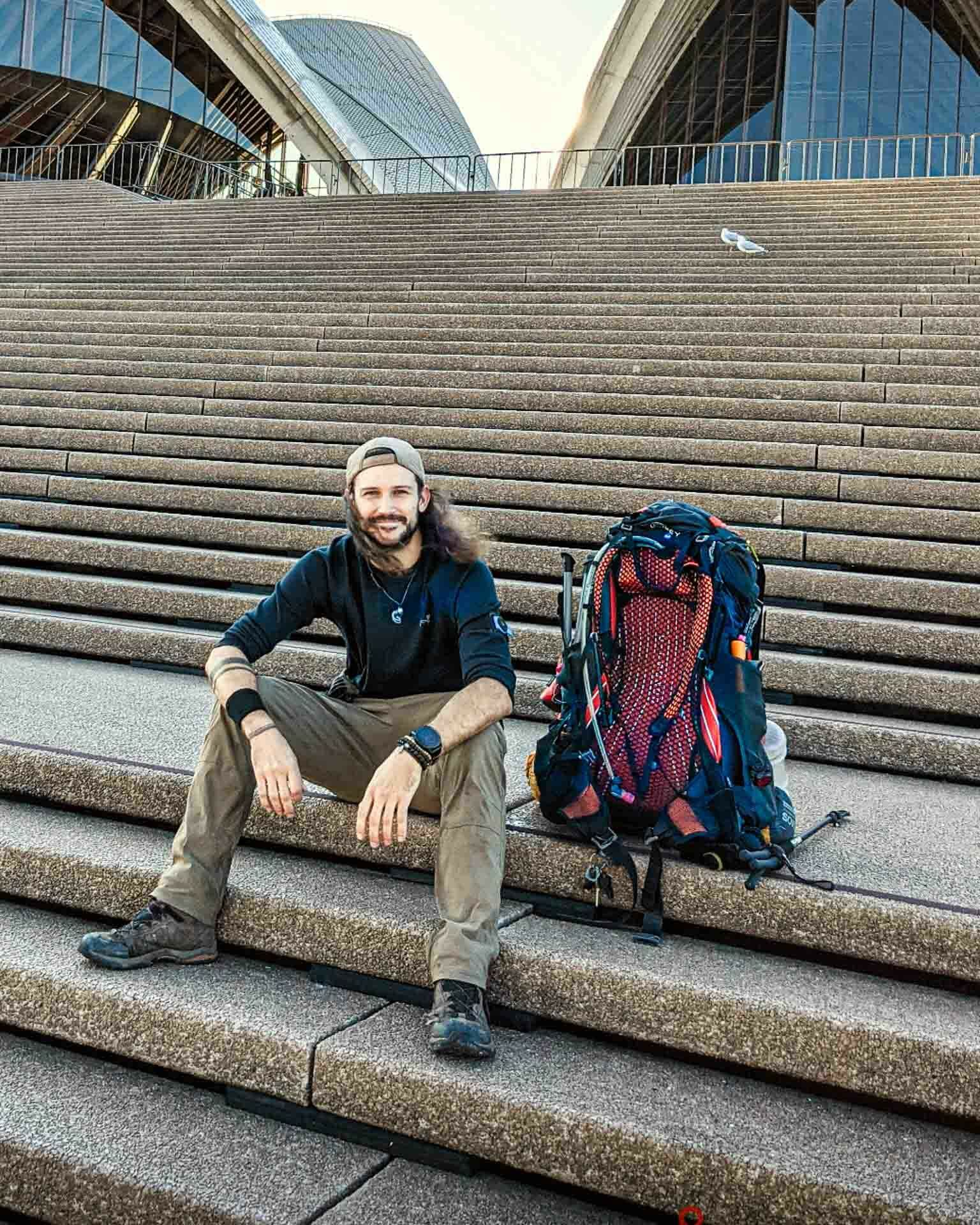 Hiking the Great North Walk – Sydney's 250km Thru Hike, jason reeves, sydney to newcastle, nsw, opera house steps