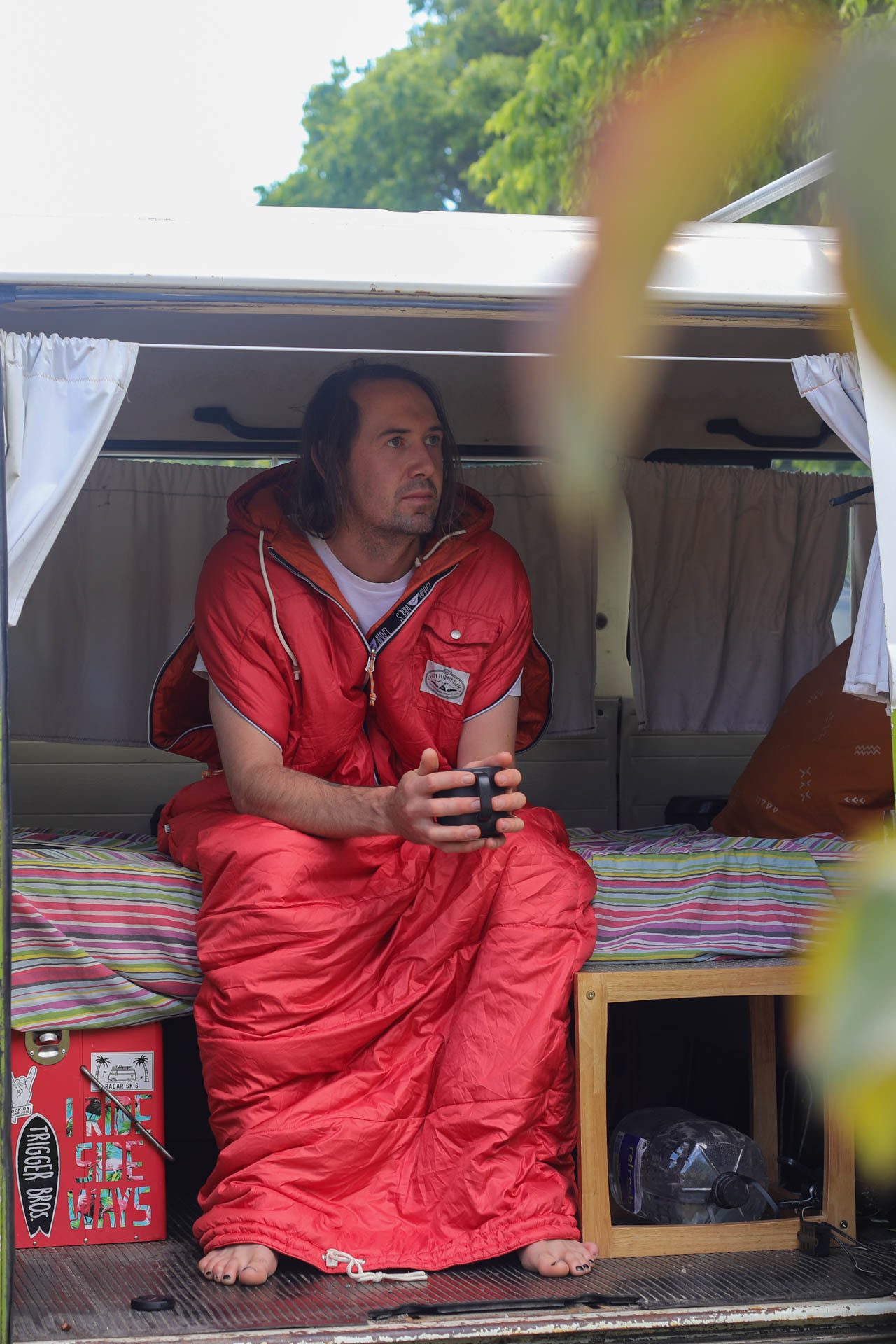 The Reversible Napsack by Poler // Gear Review, mattie gould, sleeping bag, jacket, who knows, kombi, van