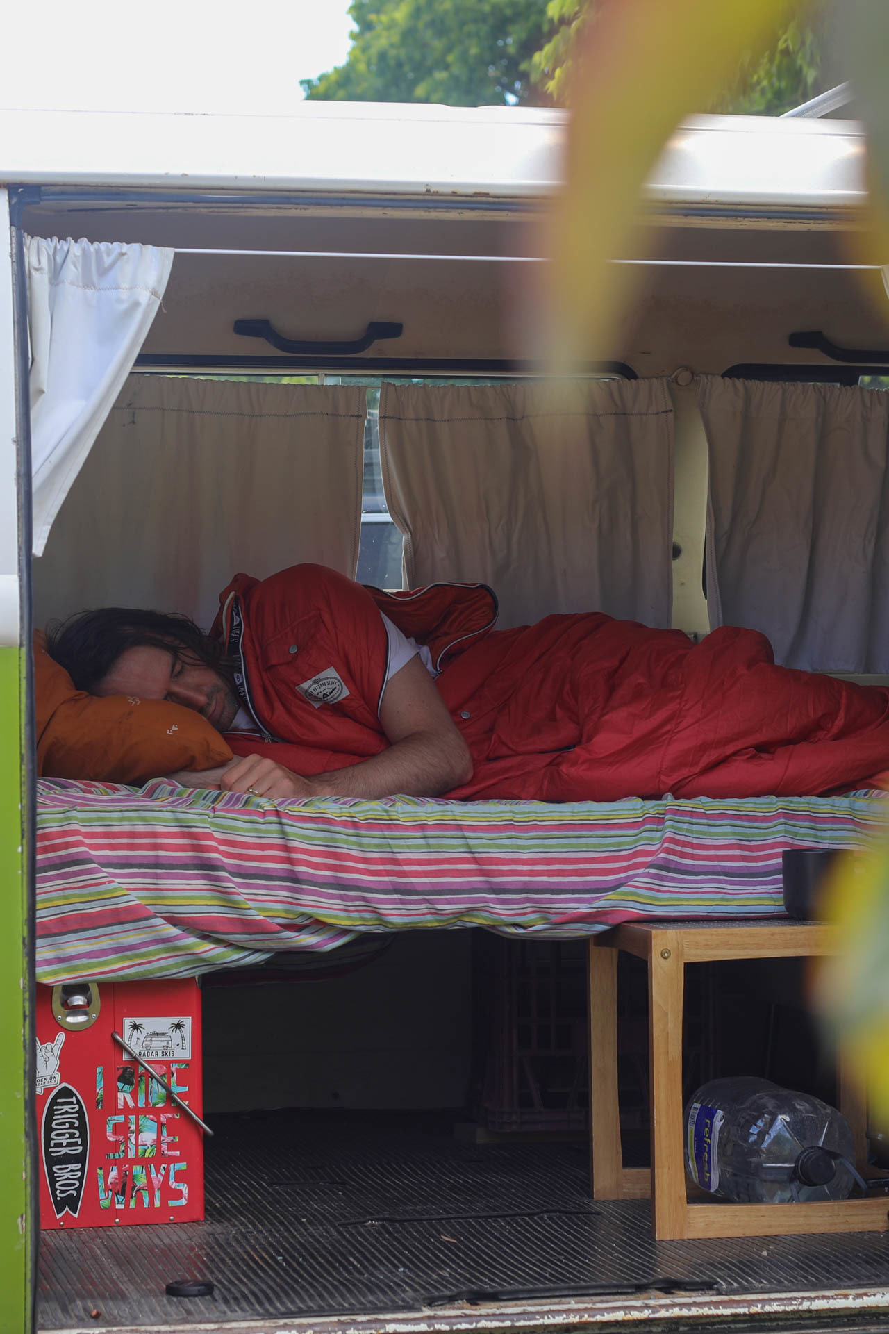 The Reversible Napsack by Poler // Gear Review, mattie gould, sleeping bag, jacket, who knows,, kombi, van