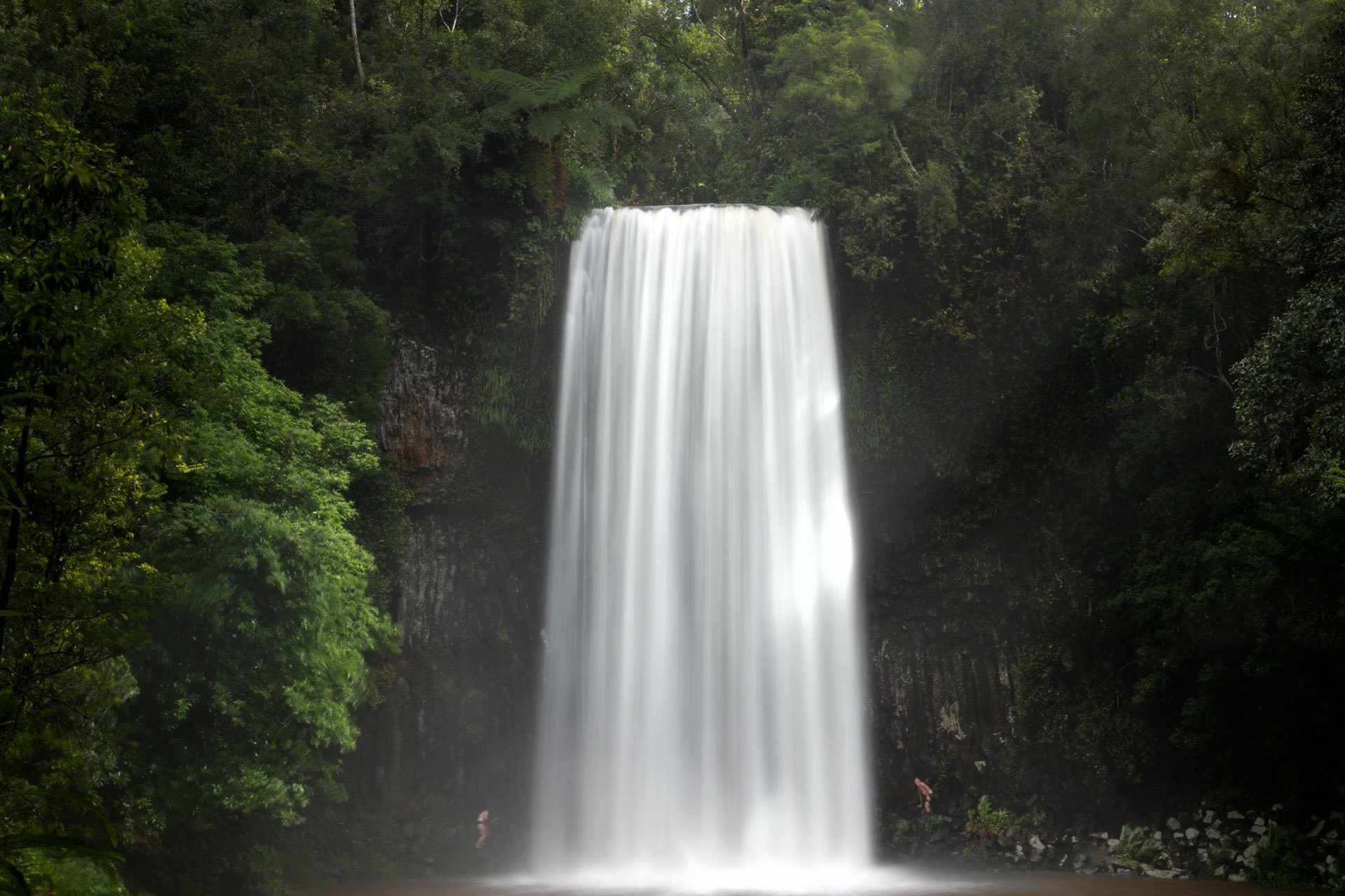 Millaa Millaa Falls is The Perfect Place to Get Your Feet Wet, Conor Moore, waterfall, rainforest, people