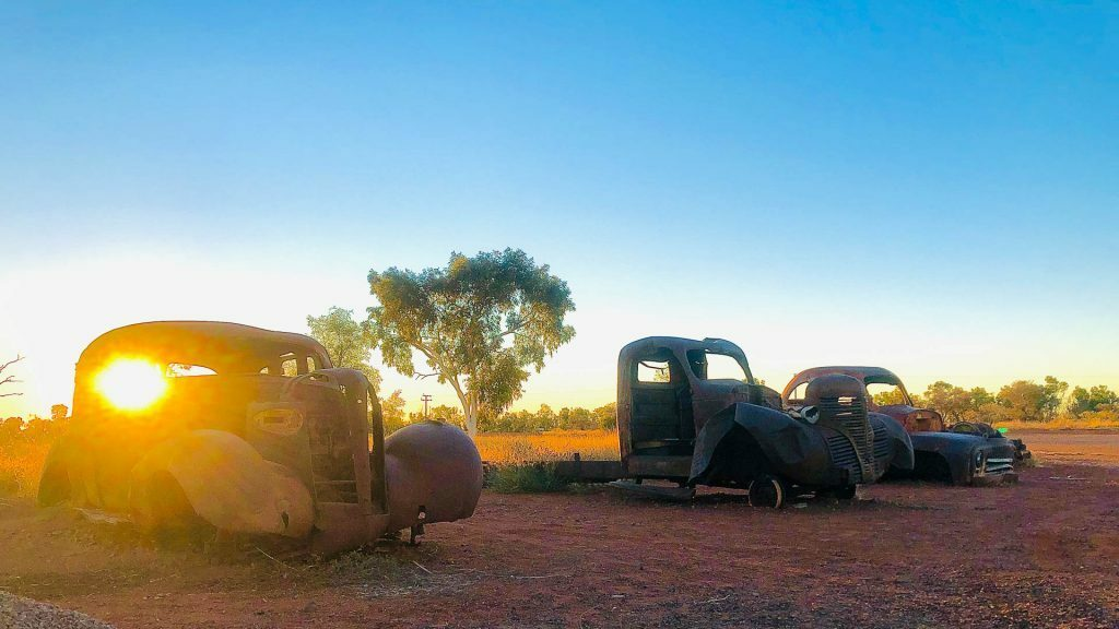 Junked Cars - Servo, Steph Henderson, the Savannah Way, northern territory through western Queensland