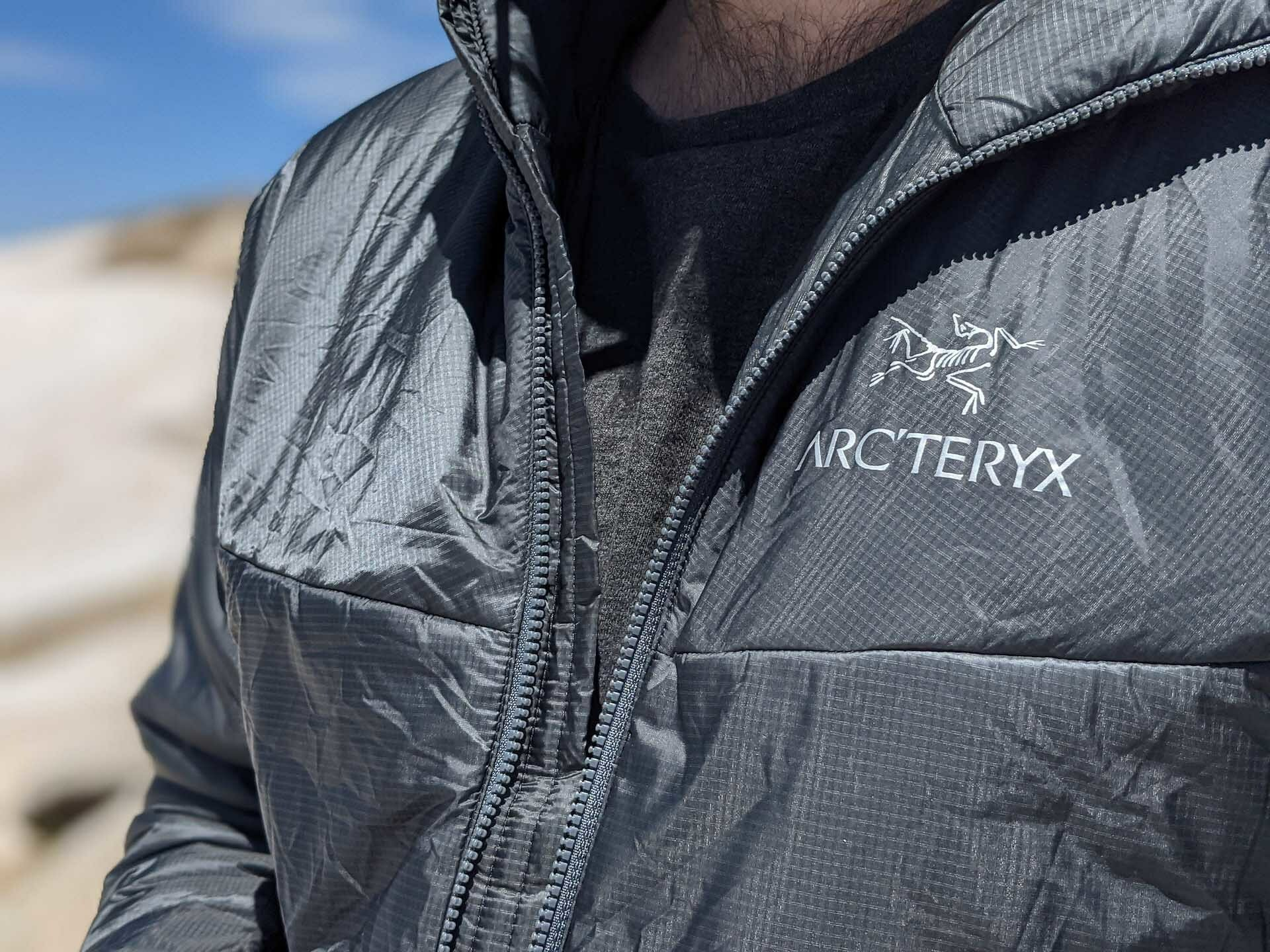 Arc'teryx Nuclei FL Jacket // Gear Review, Aidan howes, kosciuszko, close up