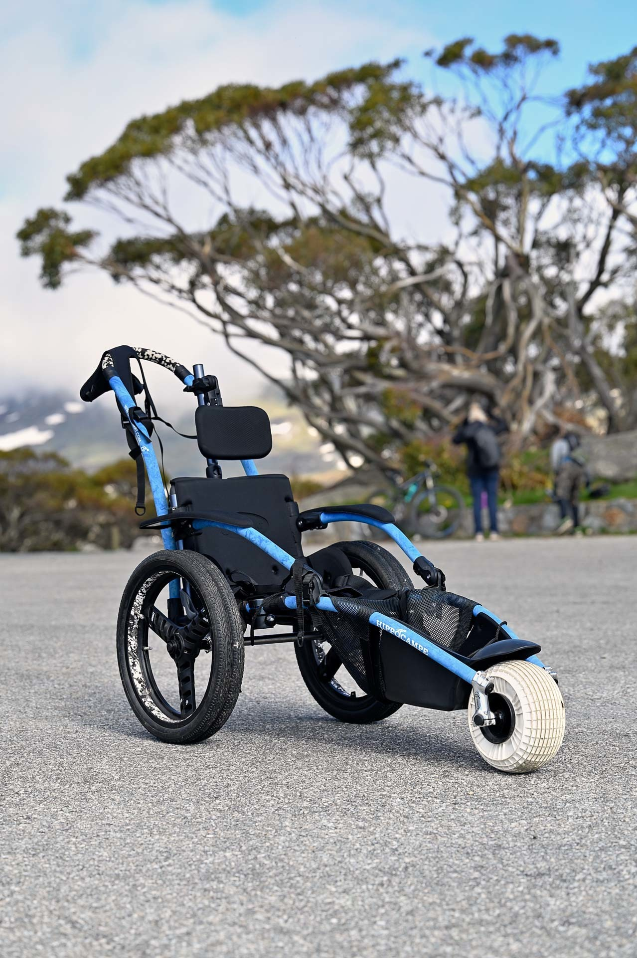 Rugged, all-terrain chairs are essential for accessible adventuring. Some National Parks have them available for hire, hippocampe, 4 Ideas for Accessible Adventures in NSW, joe kennedy, kosciuszko national park, summit track