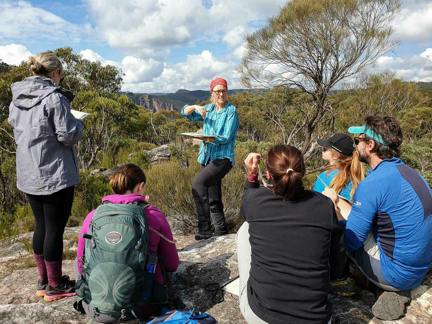 Nav course Blue Mts with Caro Ryan Credit Rachel Dimond, how to navigate