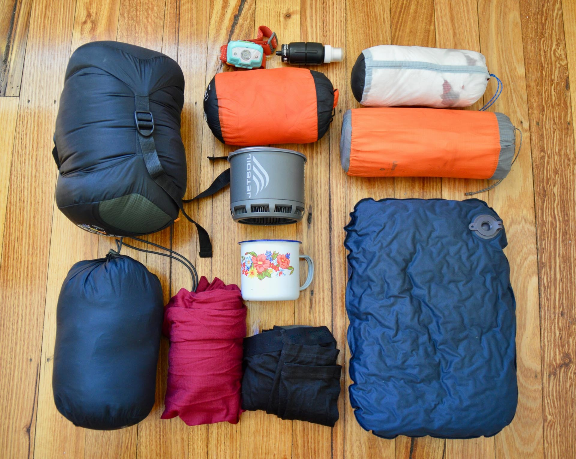 All of my gear, Fast & Light – A Mt Gingera Overnight Hike in Under 24 Hours, Alice Wisse, ultralight, australian capital territory flatlay