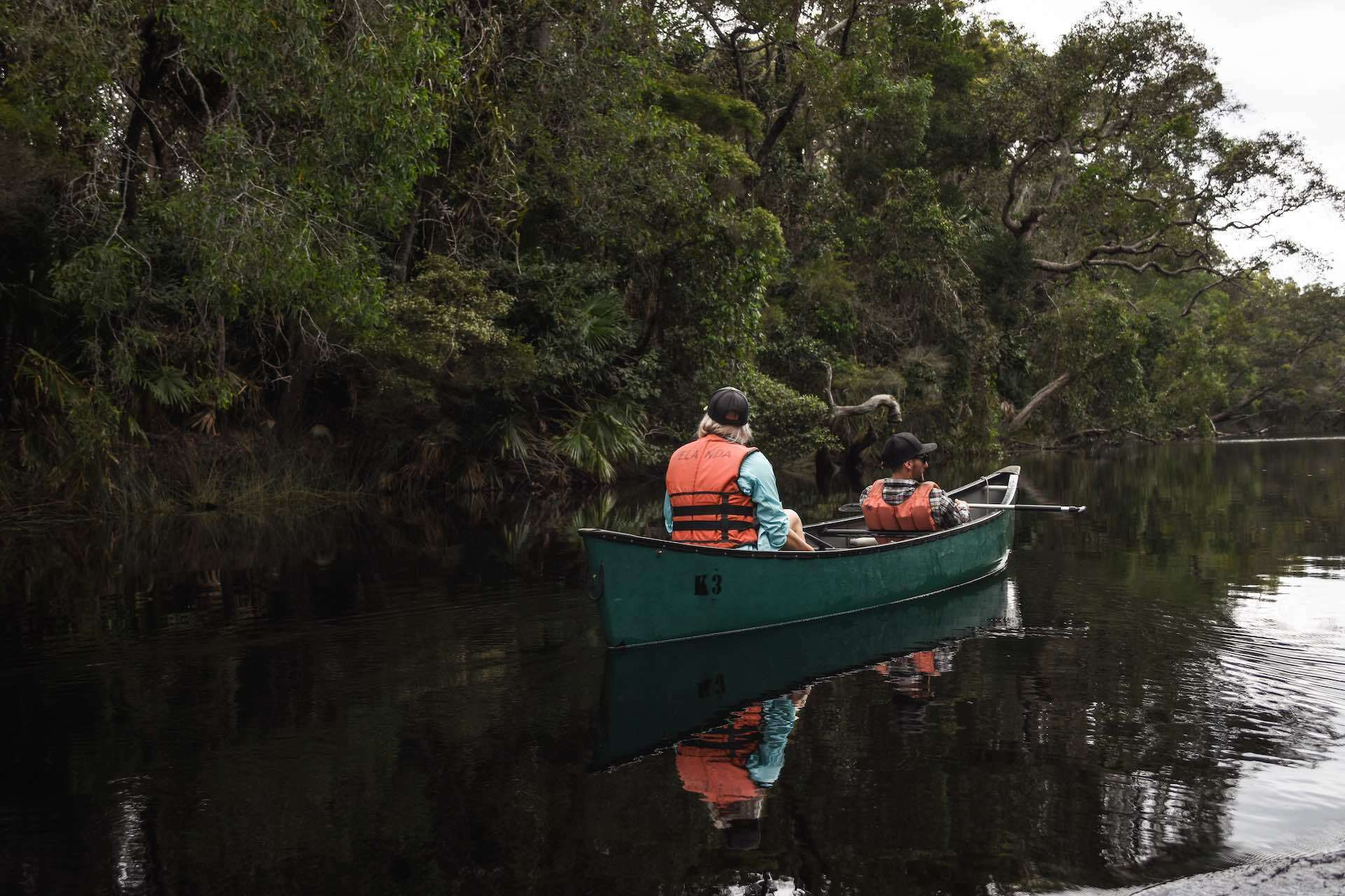 Paddling The River of Mirrors on The Noosa Everglades Are a Nature Haven, Lisa Owen, kayak, canoe, river, tea tree, couple, friends