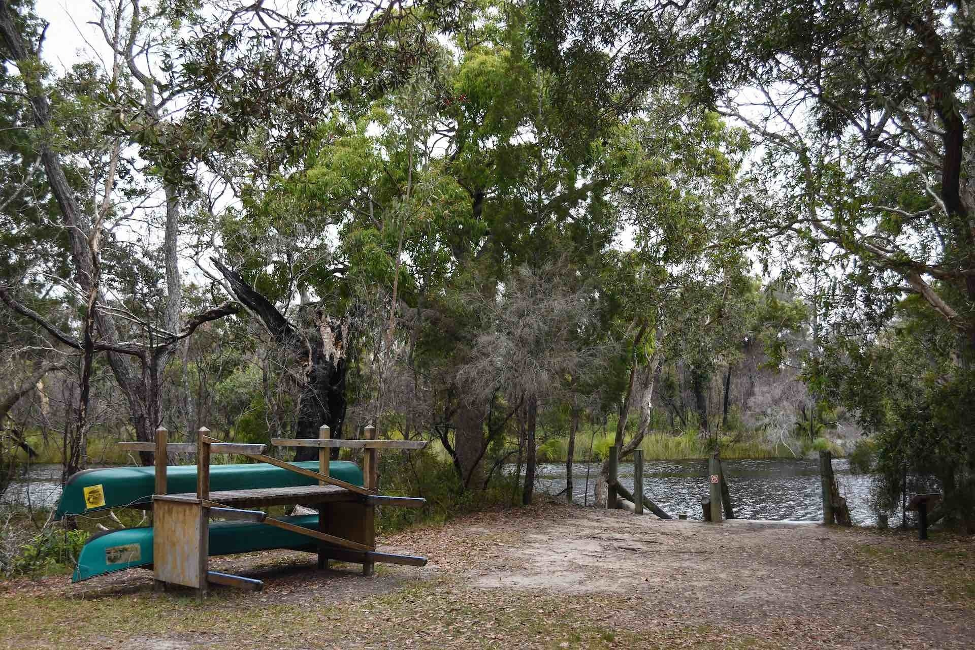 Paddling The River of Mirrors on The Noosa Everglades Are a Nature Haven, Lisa Owen, kayak, canoe, river, tea tree, Harry's Hut, jetty