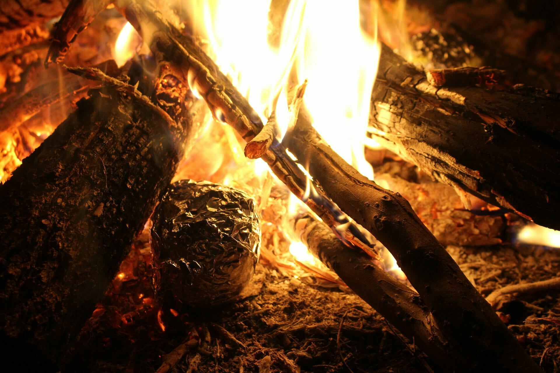 Campfire Baked Potatoes – The Simplest And Tastiest Camping Meal, Pippa Salmon, fire, dinner, food