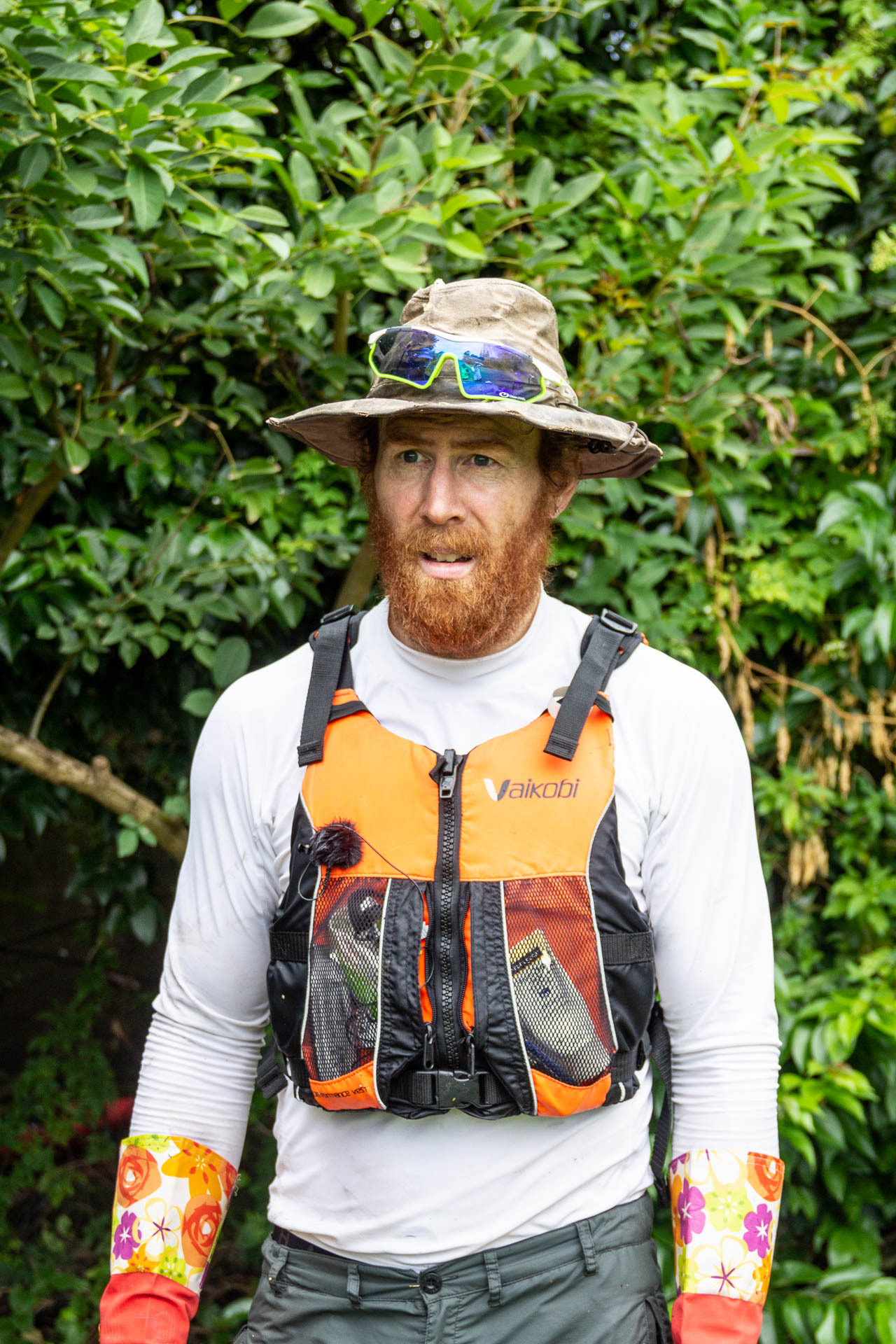 What the Heck Is Beau Miles Up to Now?, photo by Tim Ashelford, bad river, beau miles, kayak, portrait