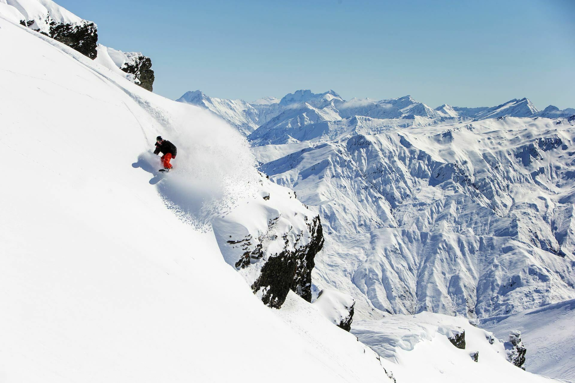 The History of Queenstown – From Maori Legends to The Home of Adventure, photo supplied by Queenstown Tourism, New Zealand, snowboarding, Cardrona, snow, mountain