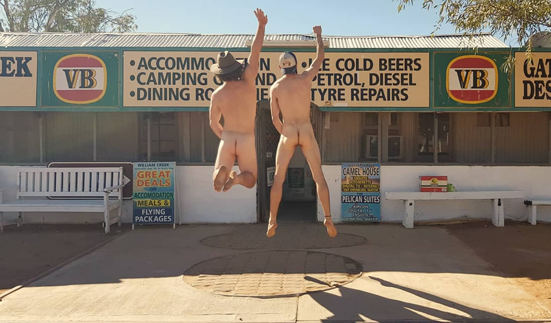 The only time William Creek Hotel had a mass audience, How To Get Nude for Mother Nature (Hint: She's Seen It Before), joe brn Cuzzocrea, nude,