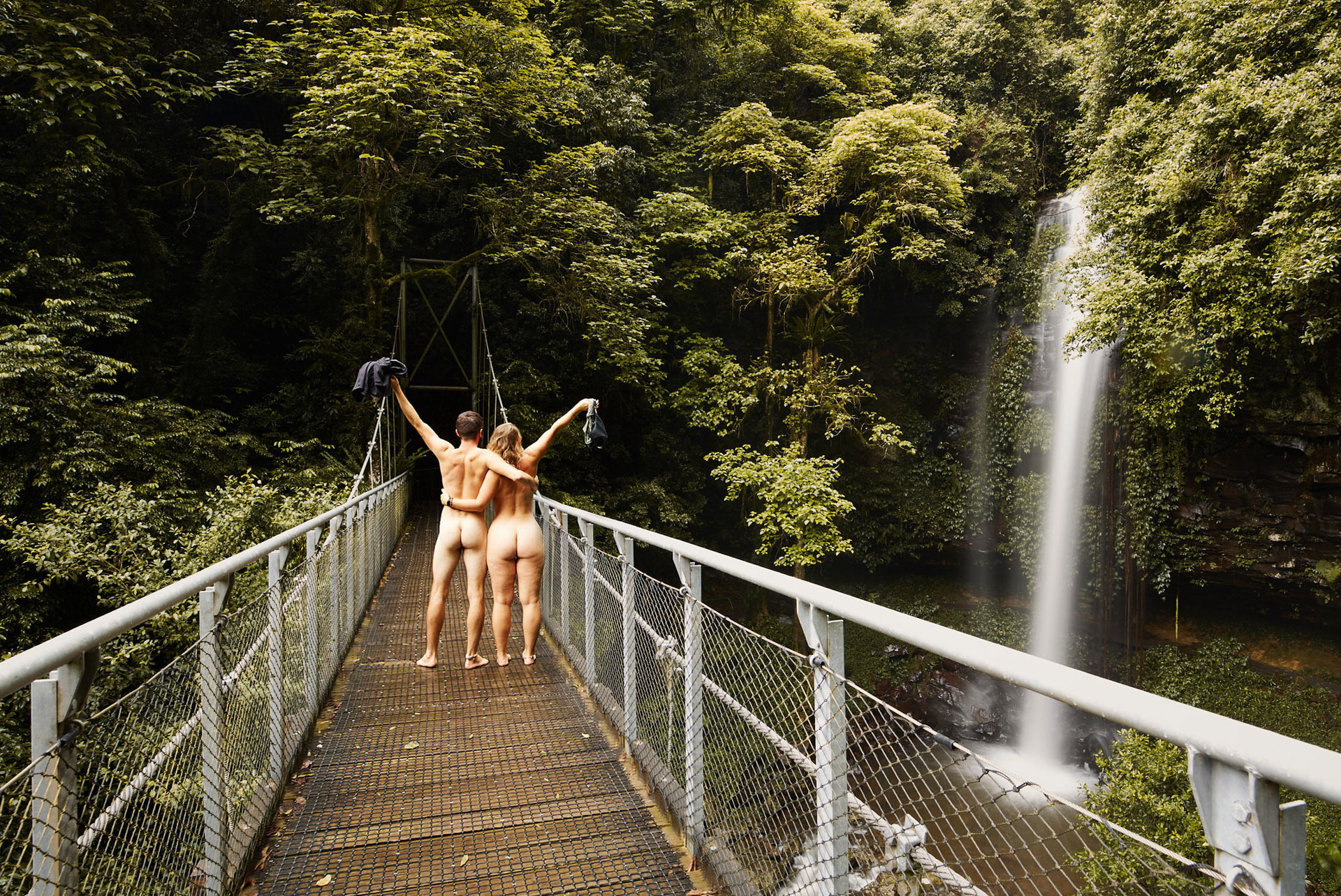 How To Get Nude for Mother Nature (Hint: She's Seen It Before), joe brn Cuzzocrea, nude, crystal shower falls, dorrigo national park, nsw