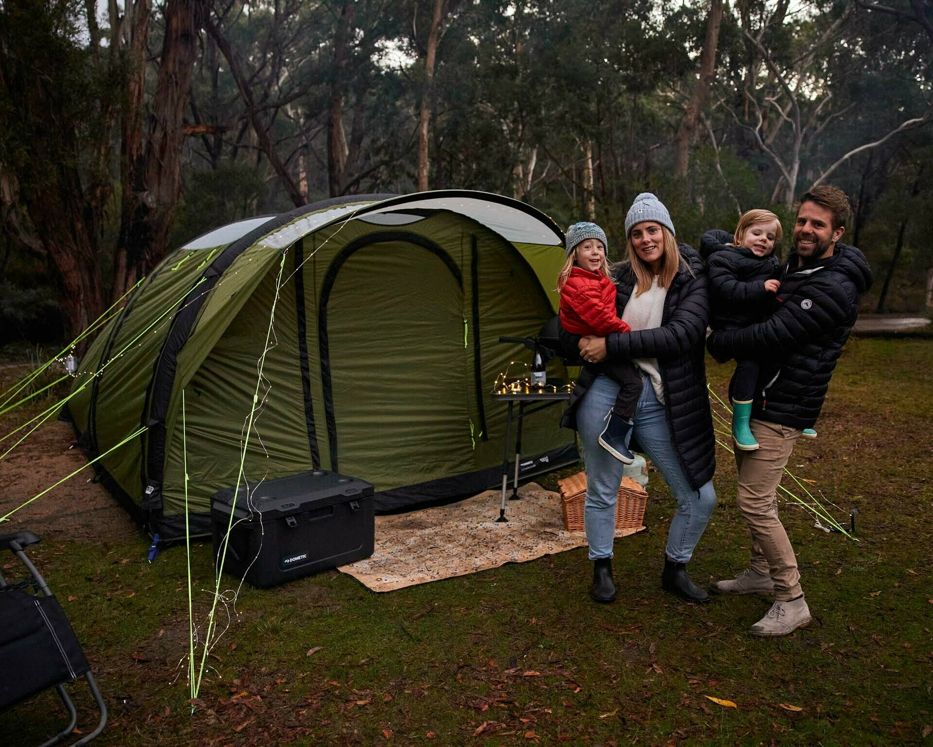 How To Set Up Your Own Glamping Experience, Brody Webb, dometic hayman 4 air, inflatable tent, family