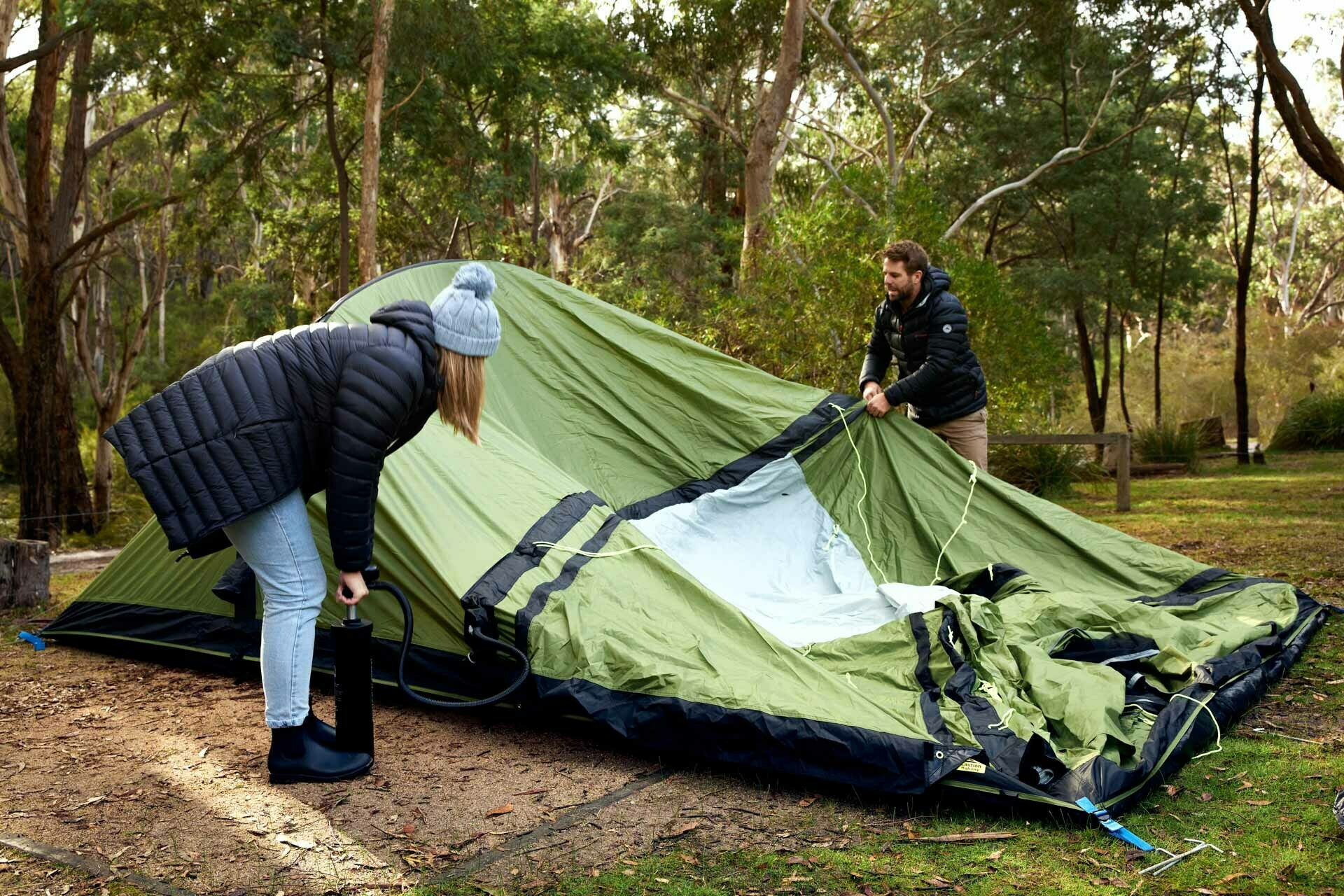 How To Set Up Your Own Glamping Experience, Brody Webb, dometic hayman 4 air, inflatable tent, pump it up