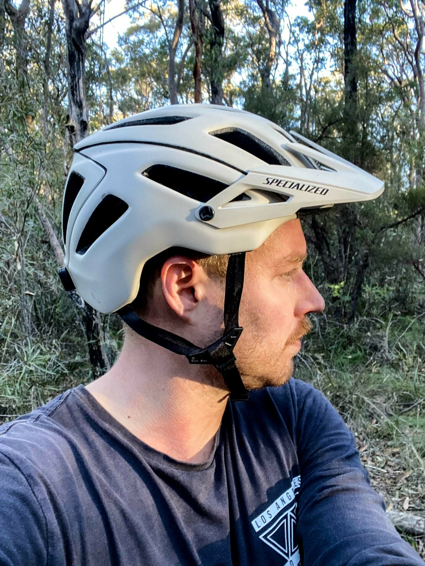 Specialized Ambush with ANGi Mountain Bike Helmet – Gear Review, tim ashelford, lawson trails, blue mountains, nsw, extended coverage