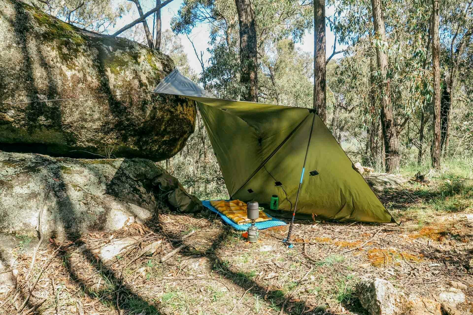 How To Camp Under a Tarp, kale munro, tarp camping, shelter, lean-to