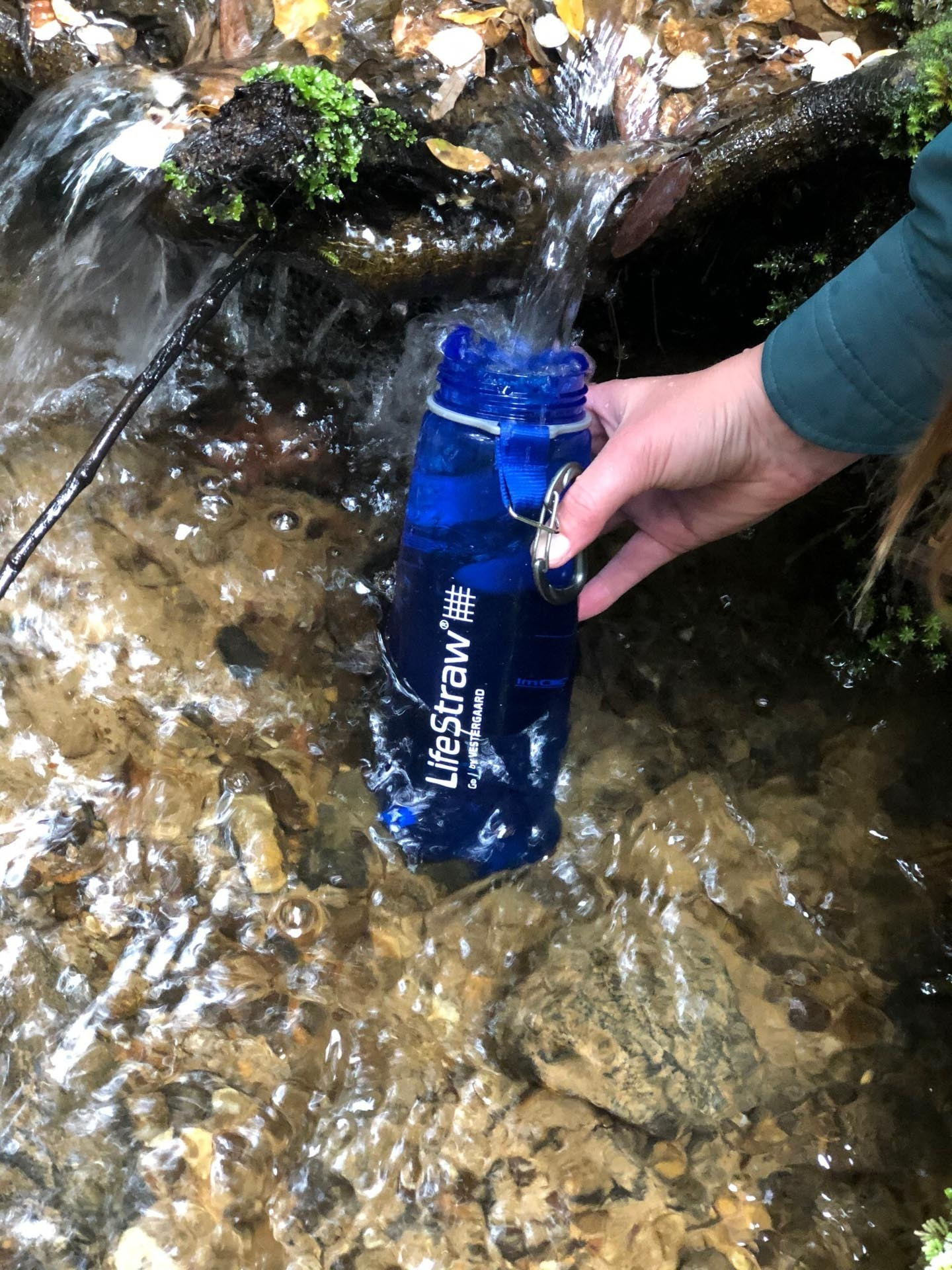 LifeStraw Go Water Bottle – Gear Review, andrew boyle filling up, water, filtration