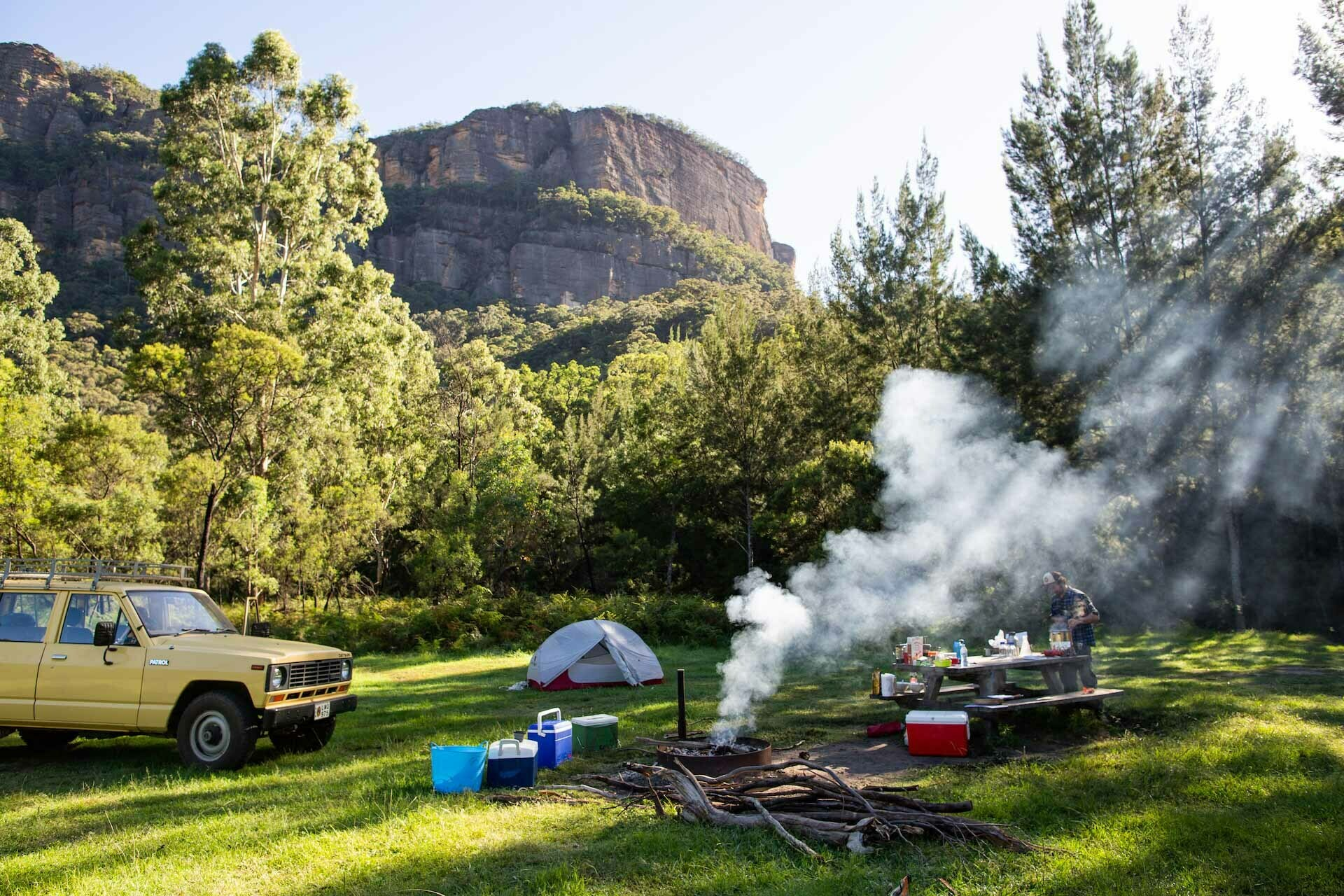 Canyoning In Search Of A Good Beer Harriet Farkash, Osprey Adventure Grant, campsite, blue mountains, car,