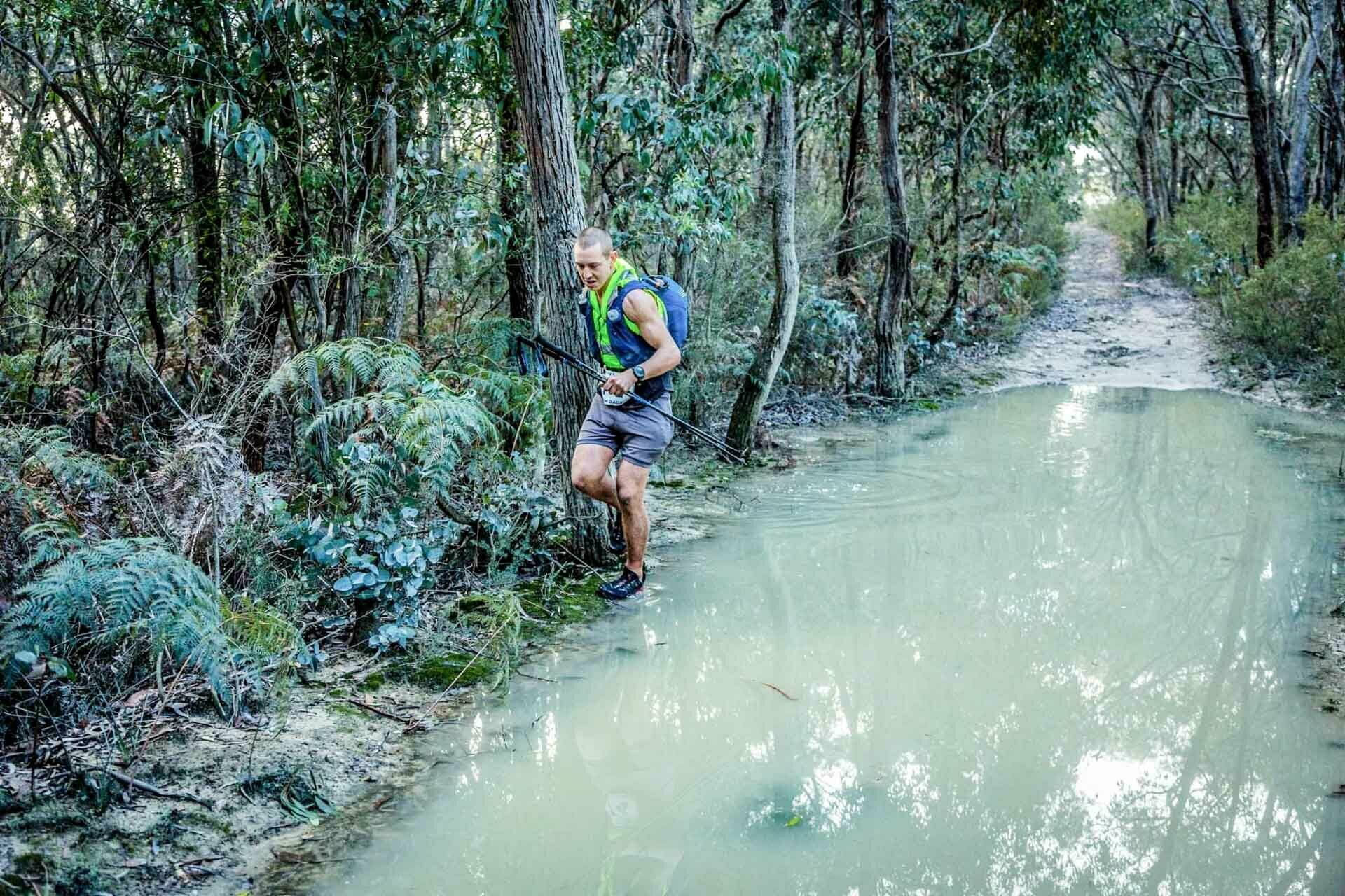 One of the Gnarliest Races in the Southern Hemisphere Can Be Found Just Out of Melbourne, photo by the Eventurers, Tom Dade, running, ultrarunning, puddle