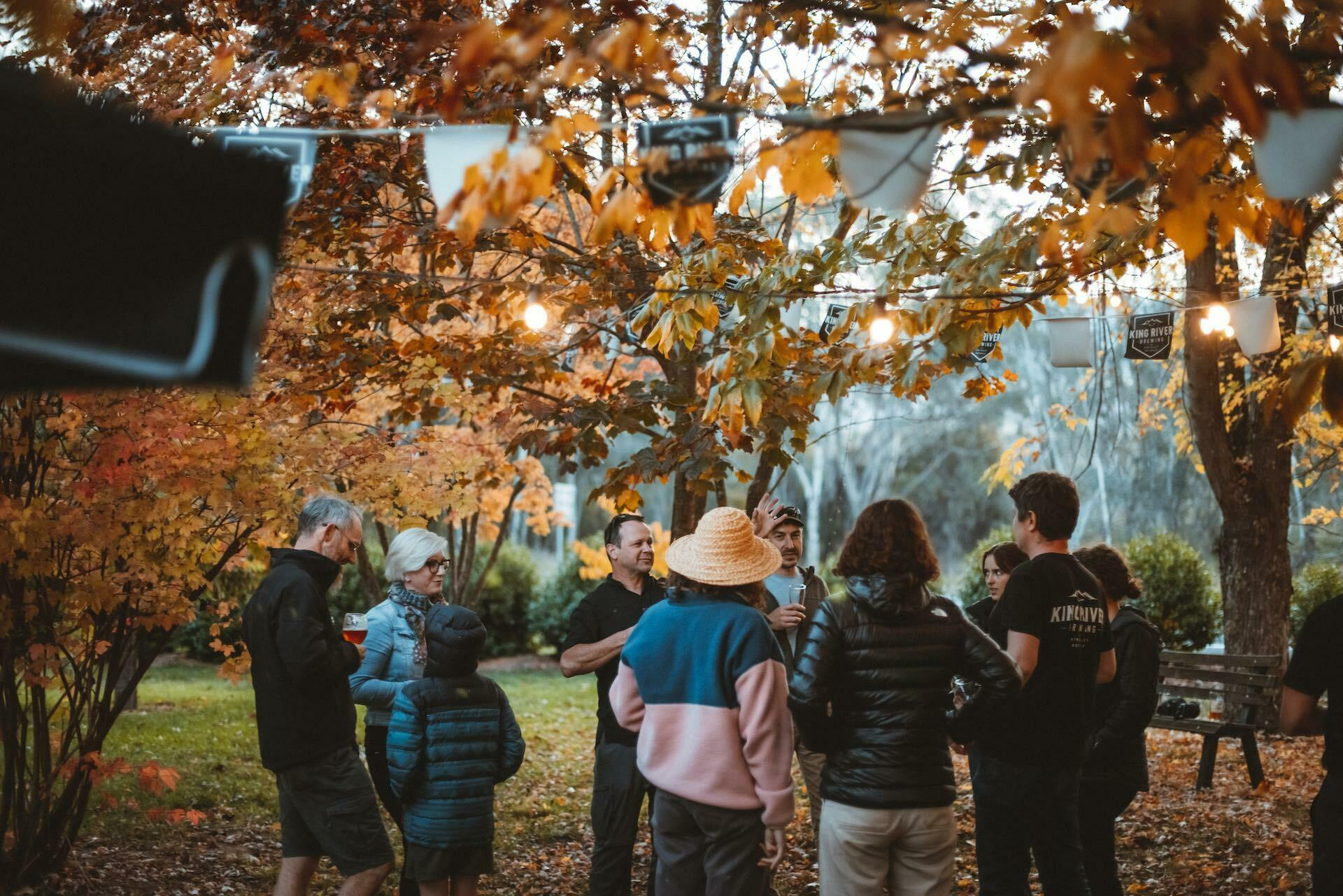 5 Hikes to Tackle Around Wangaratta (And Where to Get a Brew Afterwards), Henry Brydon, King River Brewing, autumn leaves, people, drink, friends