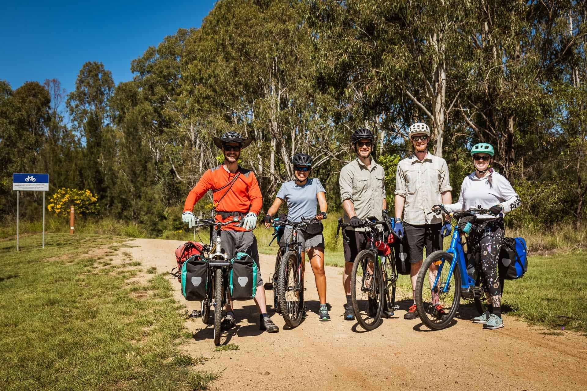 Beers, bakeries and barely any uphill? Cycling the 161km Brisbane Valley Rail Trail - Lachlan Gardiner: Cycling, QLD, friends, happy, BVRT