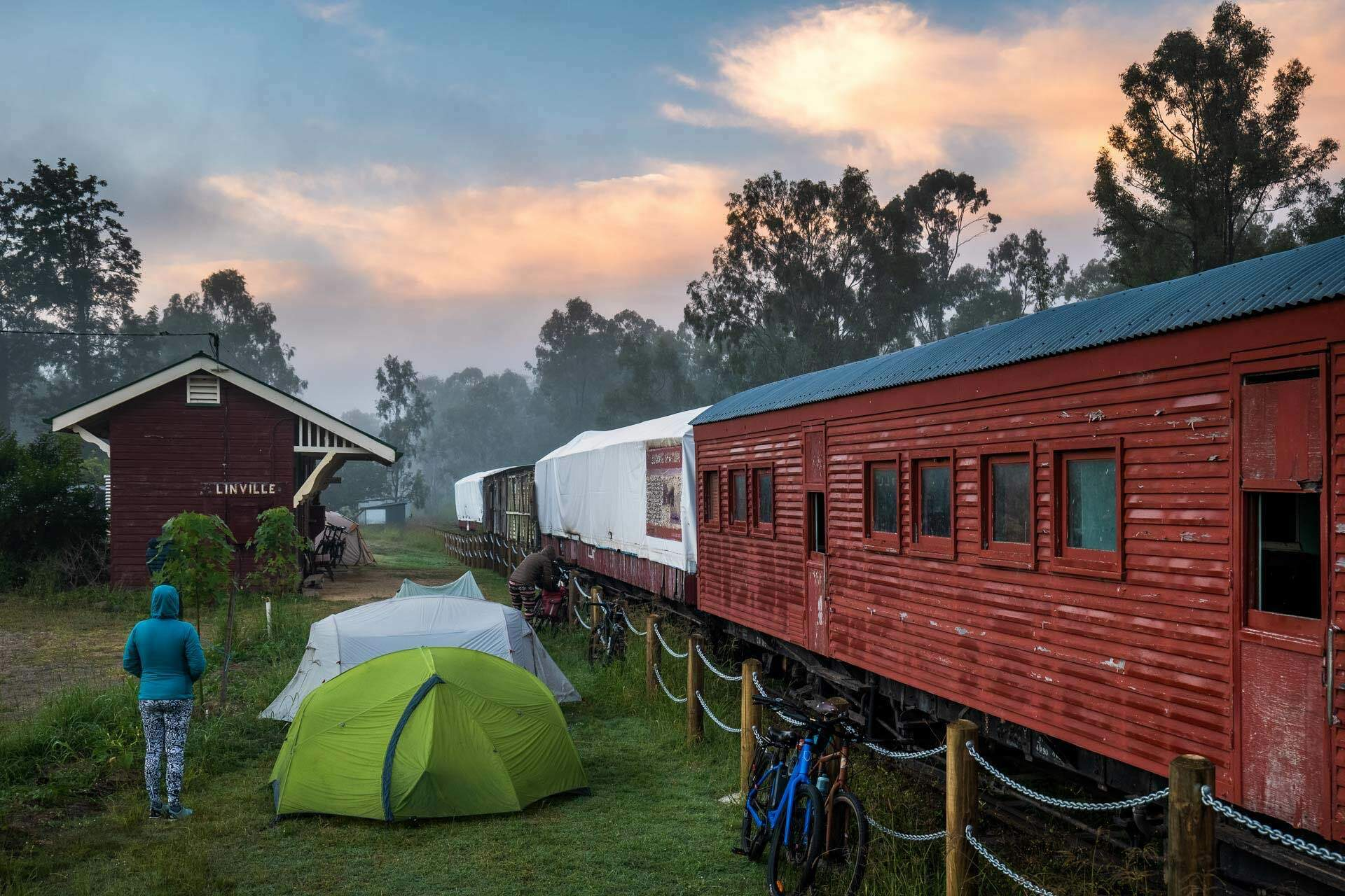 Beers, bakeries and barely any uphill? Cycling the 161km Brisbane Valley Rail Trail - Lachlan Gardiner: Cycling, QLD, BVRT, camping. tent