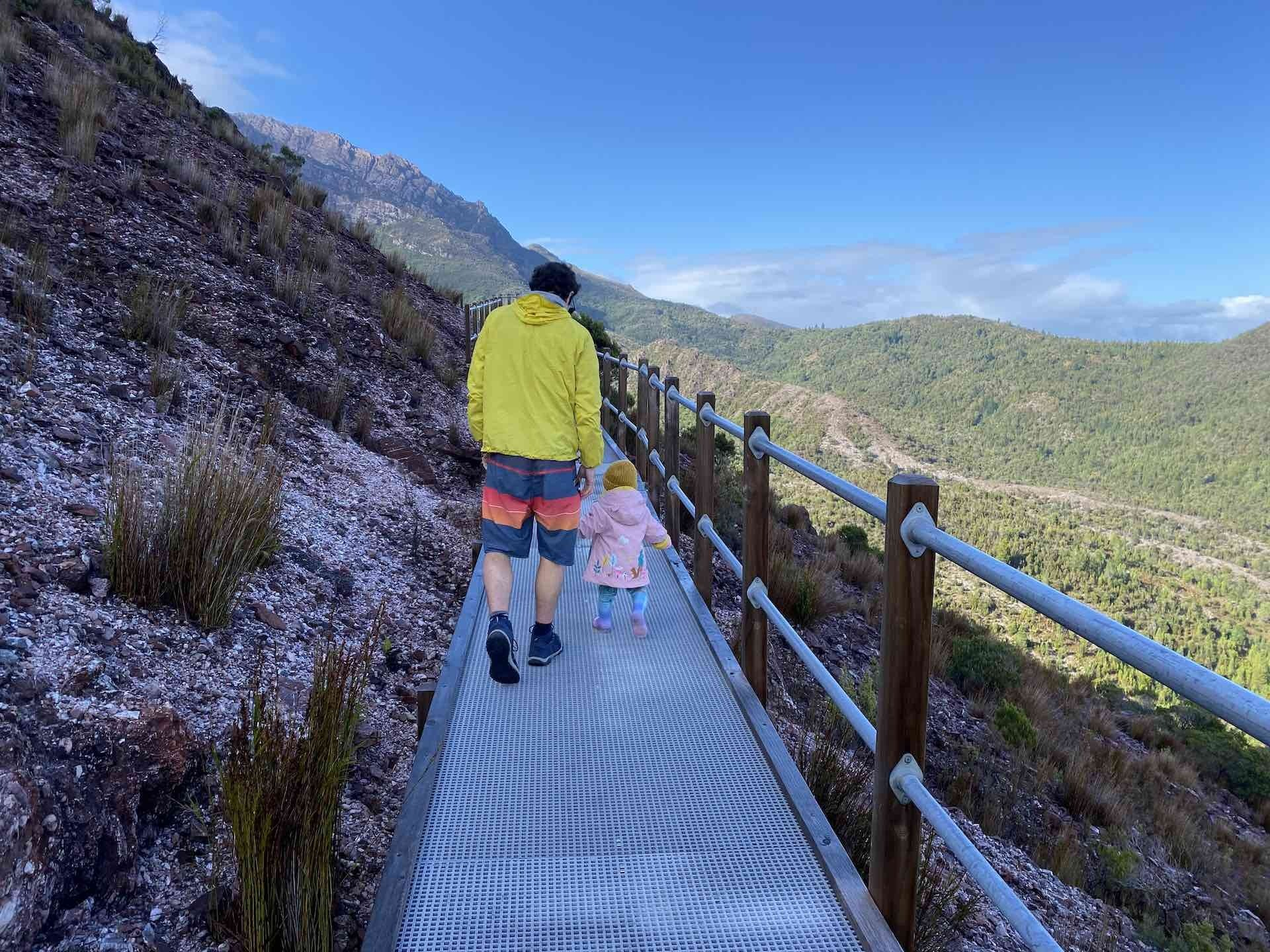 How To Travel Tasmania With Your Adventure Family - Sarah Tayler, Tasmania, Queenstown, Track, Family, Dad