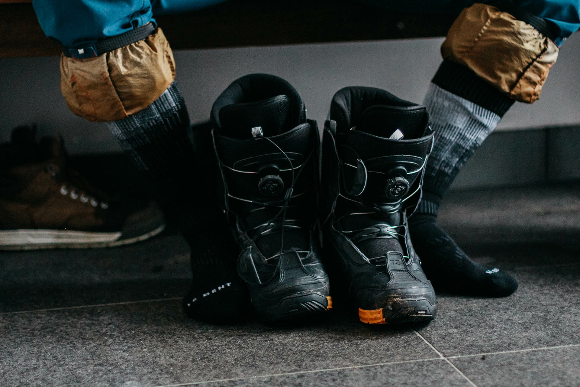 An Ode to Outdoor Footwear – Some Shoes We Love to Hate_Snowboard Boots, Le Bent Socks
