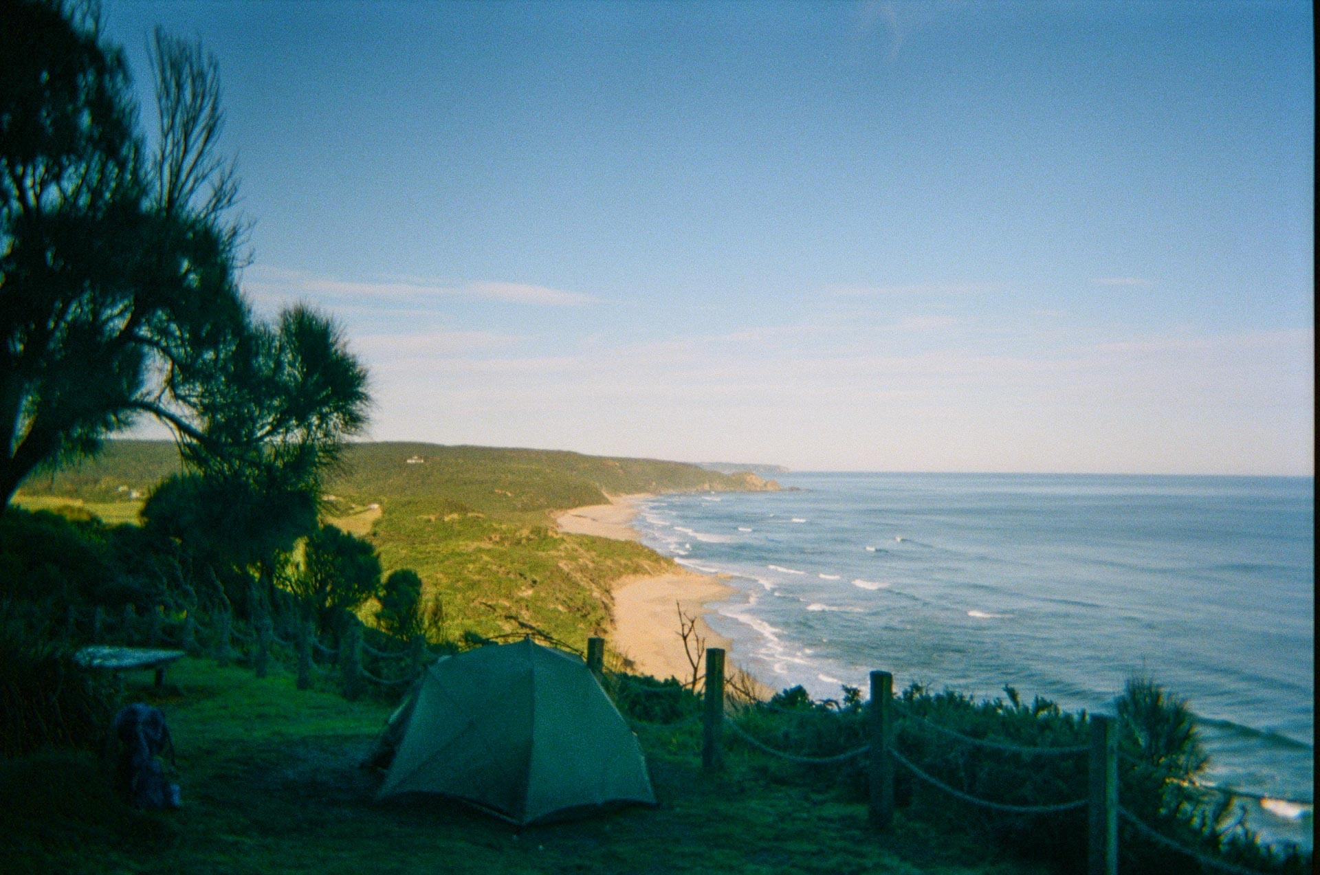 6 Things I Learned in 6 Days on the Great Ocean Walk, Zoe parsons, great ocean walk, victoria, film, campsite, tent, beach, coast