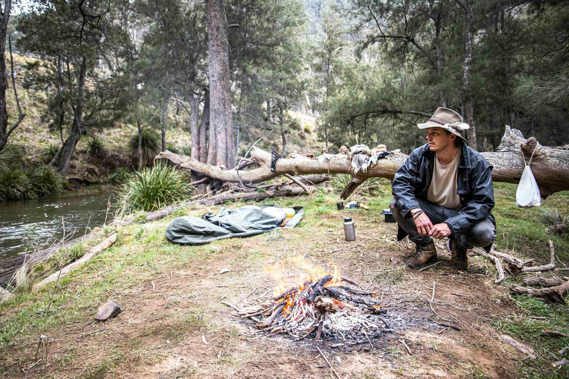 Hiking With A Swag? Scotty's Gone Walkabouts and Given It A Crack, scotty williams, scotty's gone walkabouts, swag, camping, hiking, blue mountains, nsw, traditional, bushcraft, fire