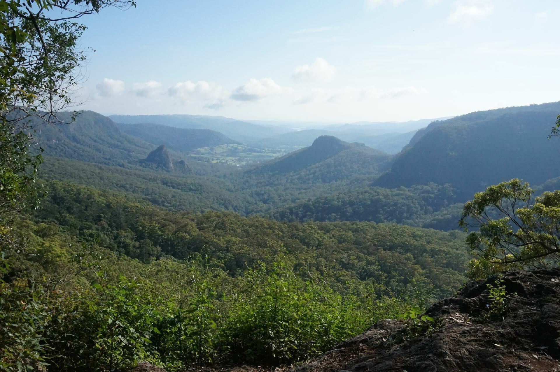 Ships Stern Circuit is Full-Day Rainforest Epic, Roz Glazebrook, valley, rainforest, view, Turtle Rock, Egg Rock, Ships Stern